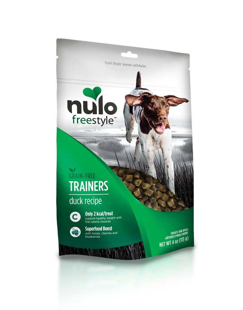 Nulo Freestyle Trainers Grain Free Duck Dog Treats - 4 oz