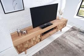 invicta interior massives tv lowboard relief 150cm akazie