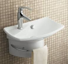 wall mounted sink with hand towel rack ideas for new bathroom