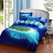 Designer Global Village Blue Bedding Bed Linens Egyptian Cotton
