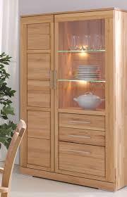 vitrine 100x186x42cm glastür rechts kernbuche massiv geölt casade mobila