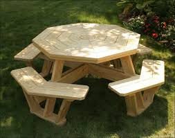 exteriors folding picnic table bench plans octagon picnic table