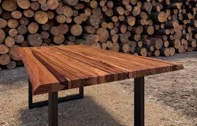 esszimmertisch cognacfarben akazienholz geteilt schwarz 140 cm
