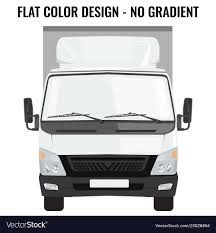 Small Truck Front Side Cargo Delivery Royalty Free Vector