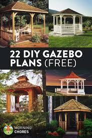 22 free diy gazebo plans u0026 ideas to build with step by step tutorials