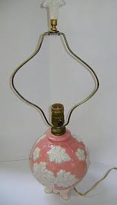 Antique Aladdin Electric Lamps by Vintage Aladdin Electric Light Rose And Leaf Motif With Alacite