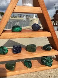 Crystal Display Shelf Trinity Cedar Pyramid Triangle