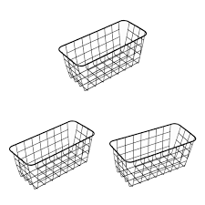 3pcs wandmontage badezimmer korb rack lagerregal küche badezimmer schwarz