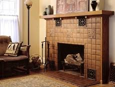 more fireplace tiles in arts crafts styles