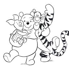 Full Image For Winnie The Pooh Happy Birthday Coloring Pages Page Autumn
