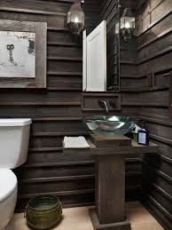 Rustic Powder Room By Melaragno Design Company LLC