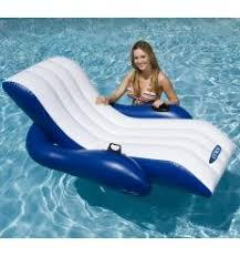 siege de piscine gonflable fauteuil de piscine gonflable blanc avec appui tête dépôt bailleul