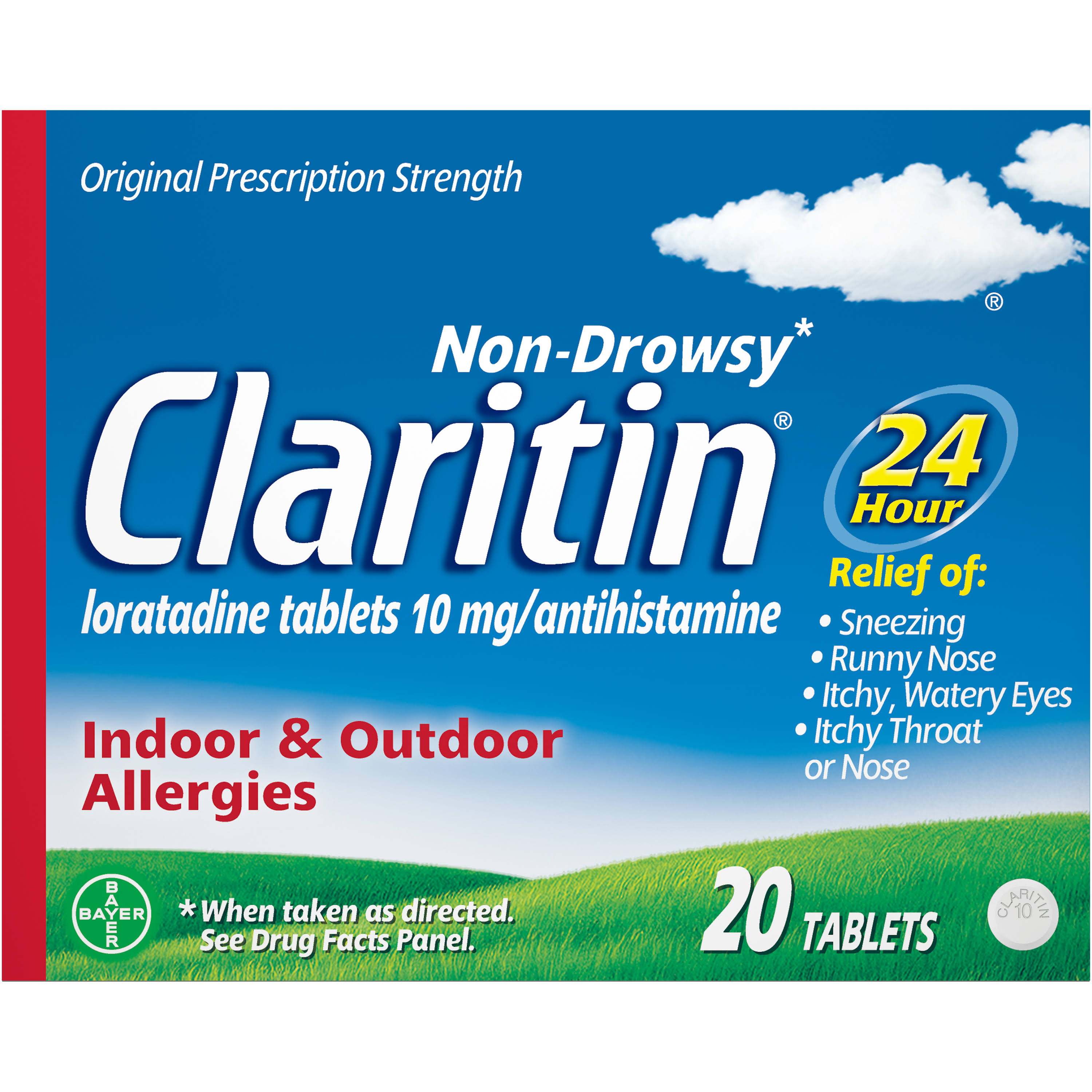 Claritin 24 Hour Allergy Tablets - 20 Counts
