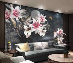benutzerdefinierte tapete foto handgemalte schöne blume pflanzen hintergrund wandbild home dekoration wohnzimmer schlafzimmer 3d tapete
