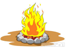 Royalty Free Log Fire Clip Art Vector Images Illustrations