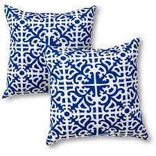 Greendale Home Fashions Outdoor Accent Pillows Set of 2 Indigo