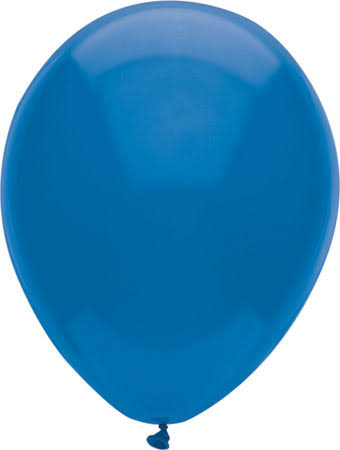 "PartyMate Round Solid Color Latex Balloons - 12"", 15ct, Midnight Blue"
