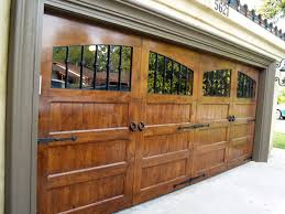 Awesome Double Wooden Garage Doors B15 Idea For Home Decoration Style