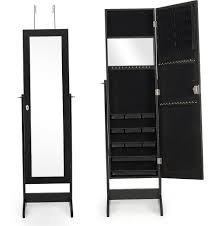 Black Jewelry Armoire Mirror | Home Design Ideas Innovation Luxury White Jewelry Armoire For Inspiring Nice Fniture Box With Mirror Free Standing Belham Living Locking Cheval Jewlery Hayneedle Bedroom Awesome Wardrobe Hand Painted Hives Honey Fabulous Painted Antique French Wardrobe Armoire Cupboard With Doherty House Choosing Best Wardrobes Armoires Closets Ikea Mirrors Plans Gls Floor Interior Mirror Faedaworkscom