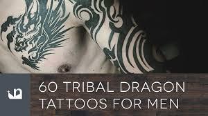 60 Tribal Dragon Tattoos For Men