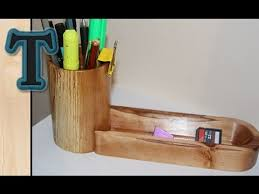Building A Simple Wooden Desk by Make A Wooden Desk Organizer Youtube