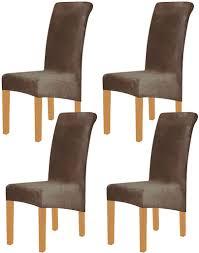 4 stück xl velvet stretch esszimmerstuhl hussen elasthan plüsch stuhlhussen solide großes esszimmer stuhl protector home décor