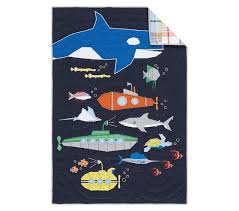 submarine quilted nursery bedding pottery barn kids baby boy s