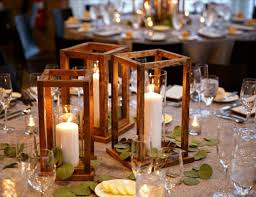 DIY Wood Lantern Centerpieces