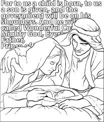 Mary Joseph Baby Jesus Coloring Page
