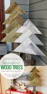 Port Morris Tile And Marble Indictment by Remodelaholic How To Build Rustic Herringbone Wood Christmas Trees
