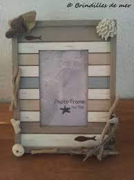 déco design cadre photo bois flotté brindilles de mer cadre