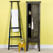 Tall Slim Cabinet Uk by Chinese Tall Slim Grey Cabinet C 1920 Orchid
