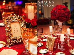 Red And Gold Wedding Decor Inspiration For Mobella Events