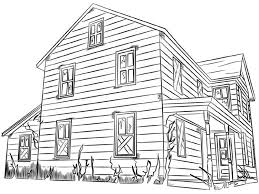 House Colouring Pages Pictures Coloring Free