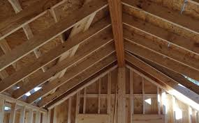Installing Ceiling Joist Hangers by Structural Ridge Beam Tricks Of The Trade