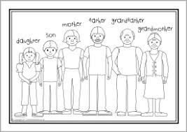 Family Colouring Pages 14 Families Sheets SB6653