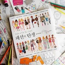 Fashion Coloring Book Secret Garden Style Adult Children Stress Relieve Graffiti Painting Drawing