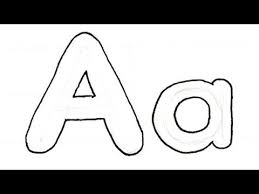 How to Draw Bubble Writing Real Easy Letter A
