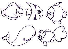 Coloring Page Printable Sea Creatures On Set Desktop