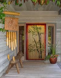 hawaiian doorway hanging with bamboo decor