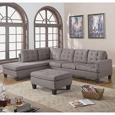 Gray Sectional Sofa Walmart by Divano Roma Furniture 3 Piece Reversible Chaise Sectional Sofa