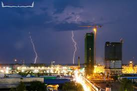 Two Bolts Of Lightning Strike The Ground Near Phnom Penh During A Thunder Storm Last Year Hong Menea