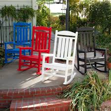 Red Adirondack Chairs Polywood by Polywood Long Island Recycled Plastic Adirondack Rocking Chair