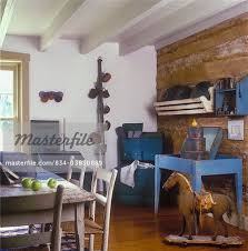 DINING ROOMS Country Primitive Early American Antiques Table Chairs Blue