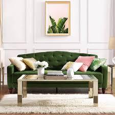 novogratz vintage tufted sofa sleeper review popsugar home