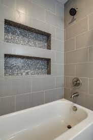 dallas linen tile bathroom transitional with industrial soap