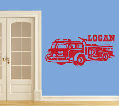100 Fire Truck Wall Decals NEW Personalized Design Decal For Boys Bedroom Many