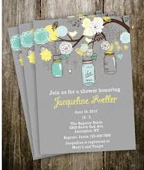 Invitation Templates Vintage Shabby Chic French Country Mason Jar Shower Baby Bridal