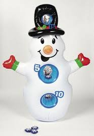 Inflatable Winter Christmas Party Snowman Beanbag Kids Bean Bag Toss Game