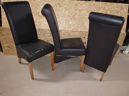 34x Black Leather Rollback Dining Chairs - Derby, Derbyshire
